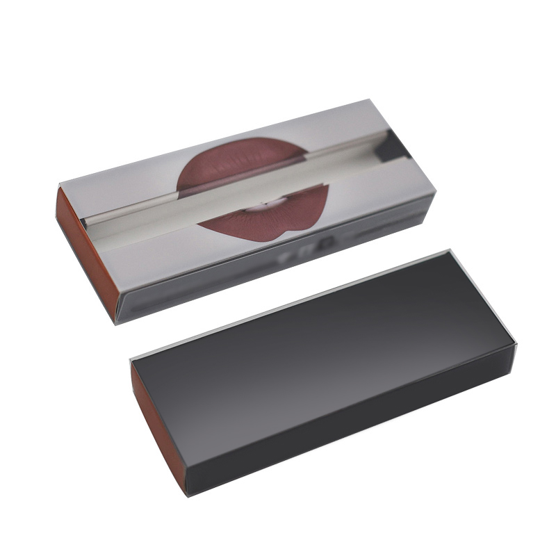 Custom all'ingrosso trasparente Piccola etichetta privata Clear Plastic Drawer Package Box Lip Gloss Packaging